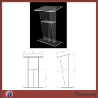 Clean acrylic rostrum/The report table/School/meeting rostrum crystal acrylic church lectern / perspex pulpit