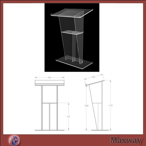 Clean acrylic rostrum/The report table/School/meeting rostrum crystal acrylic church lectern / perspex pulpit 210 297mm customized table display card pmma acrylic material environmental t shape label frame for meeting business 170309 a7