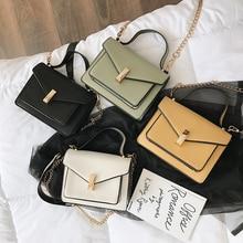 цена Small Women's Handbag Vintage Shoulder Bag Ladies Hand Bags Messenger Cross Body Leather Bag For Girls Female Black Chain Flap