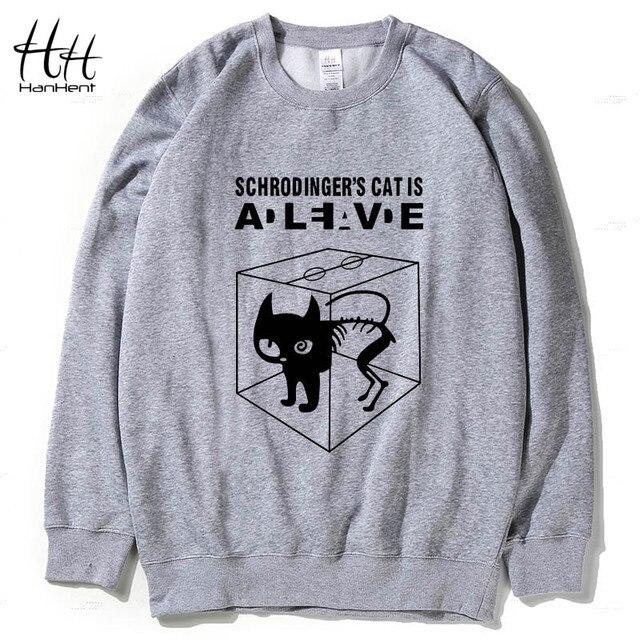 HanHent The Big Bang Theory Schrodinger's Cat Thick Fleece Sweatshirt Hoodies Men Warm Crew neck Winter Hooded Coat AG0164