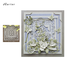JCarter Background Dies Fine Lace Frame Cutting for Scrapbooking DIY Album Embossing Folder Cards Photo Template Stencil