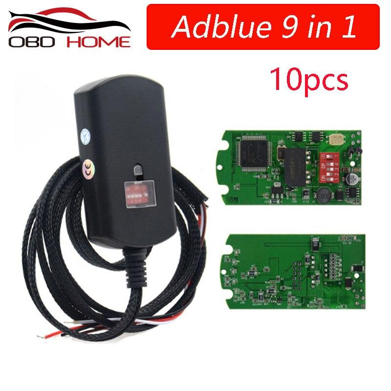 Универсальная эмуляция 9 в 1 Adblue для renault, эмуляция 9 в 1, не программное обеспечение Adblue 9 в 1, для грузовиков 9 типов, 5/10 шт.