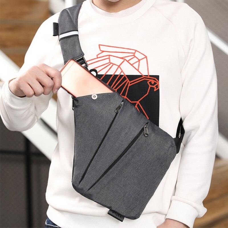 WENYUJH Men's Chest Bag Phone Pocket Messenger Sports Multi-function Men Shoulder Handbag Personal Shoulder Anti-theft Bag 2019