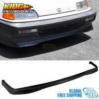 Подходит для 1990 1991 Honda Civic JDM Стиль переднего бампера v стиля Неокрашенный полиуретан Глобальный Бесплатная доставка по всему миру