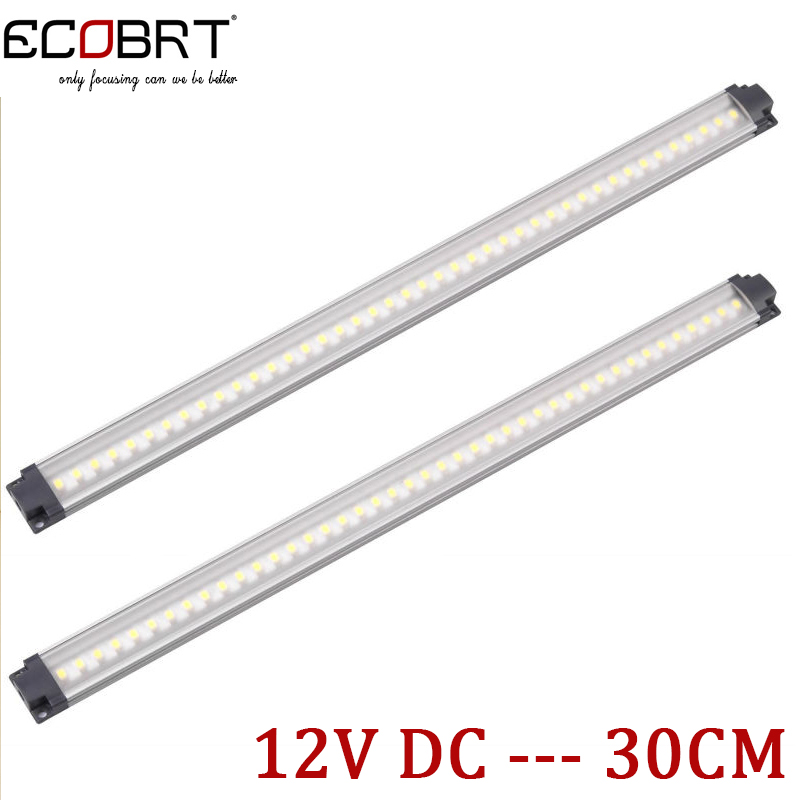 Kitchen Under Cabinet Lights 2pcs/lot 30cm long 12v aluminum led 3W Display lighting bar for furniture / showcase / wardrobe ...