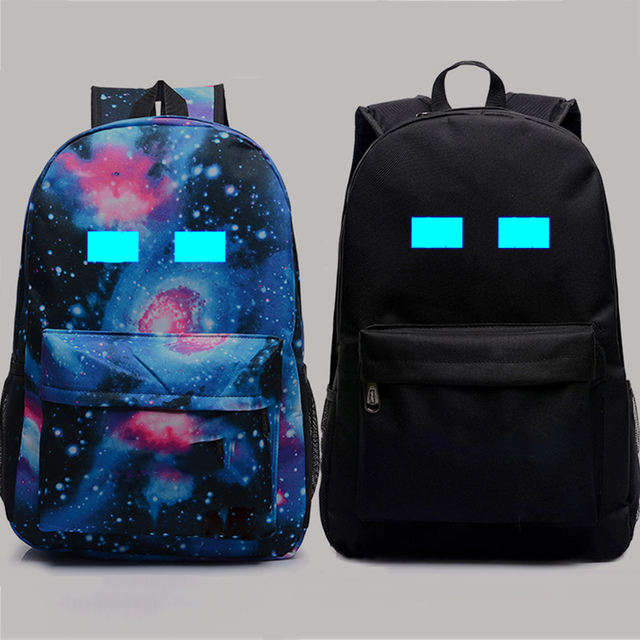 3dc7b1f57a Minecraft School Bag Oxford Book Backpacks Student Glowing in Dark Travel  Rucksacks Action Figure Toys Children s