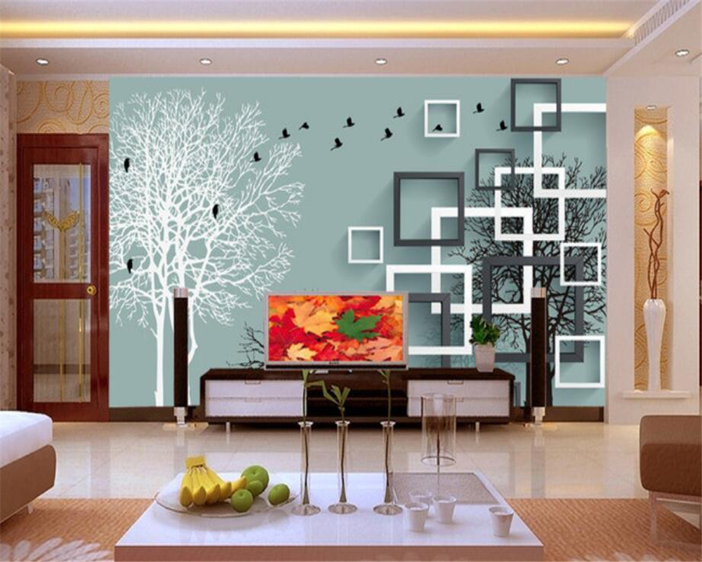 Beibehang 3D Wallpaper Modern 3D Stereo Trees Flying Birds Living Room Bedroom TV Background Wall Murals wallpaper for walls 3 d 3d stereo window planet earth from outer space background 3d wallpaper murals living room bedroom study paper 3d wallpaper