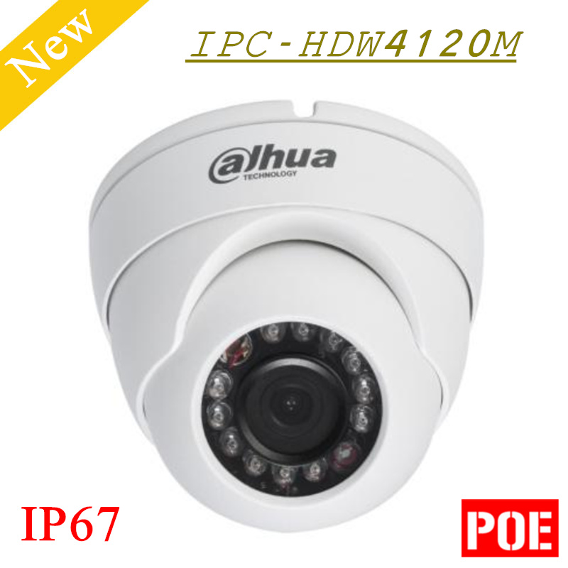 Big Sales 1 3mp Dahua IP Camera HD Network IR Eyeball Camera IPC HDW4120M IP67 Support