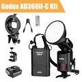 Godox witstro ad360 ii ad360ii-c ttl on/off-camera flash speedlite + x1 godox gatilho sem fio para canon dslr + kit de acessórios