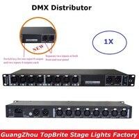 Новый дизайн 88 265 V Вход DMX усилитель/сплиттер/DMX Репитер сигнала мобильного телефона/8 Выход Порты DMX512 распределитель сигналов Быстрая доста