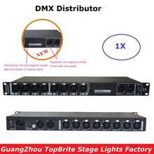 New Design 88-265V Input DMX Amplifier / Splitter / DMX Signal Repeater/ 8 Output Ports DMX512 Signal Distributor Fast Shipping free shipping 8 routes dmx signal driver amplifier dmx splitter 8 output distributor 3pin dmx sockets dmx512 distribute devices
