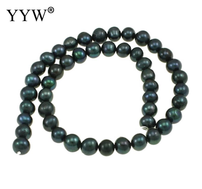 8-9mm Potato Cultured Freshwater Pearl Beads For Making Diy Jewelry Bracelet Necklace Approx 14.5 Inch Strand