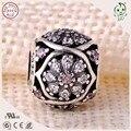 Nueva Llegada de La Buena Calidad de Lujo 925 Flor de Plata Sterling Hollow Diseño Cadena Charm Europea