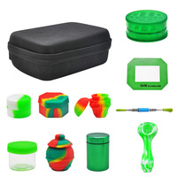 HORNET Wax Oil Bag FDA Silicone Stash Jar Aluminum Metal Weed Box Plastic Herb Grinder Non Stick Silicone Carb Mat Smoking Pipe