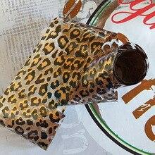 1PC Leopard Print Nail Foil Transfer Slider Sticker Sexy Design Professional Manicure DIY Decoration