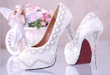12cm White Fashion Wedding Bridal Dress Shoes Custom-made High heel Lady Shoes A2016 Popular women Dress Shoes
