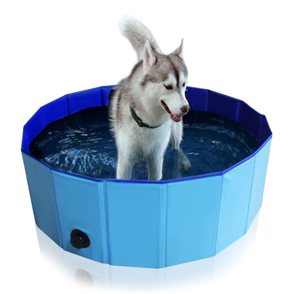 2018 nouveauté pliable chien pataugeoire piscine chiot chats natation baignoire Pet enfants Kid Ball eau étangs