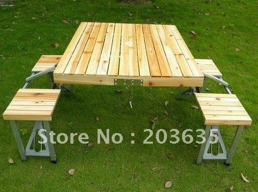 Picknick Tafel Aluminium.Gratis Verzending Folding Outdoor Picknick Tafel Met 4 Seat