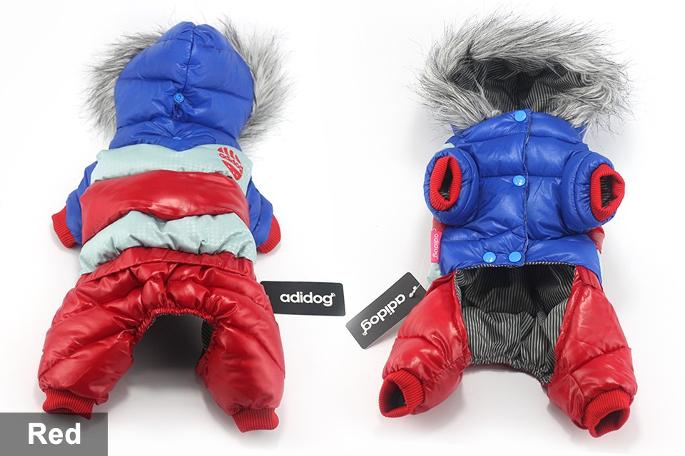 adidog New Winter Pet dog Clothes for Small Medium Dog Pet clothing Coat hoodies Waterproof Super Warm Jacket Snow chihuahua for Winter 416