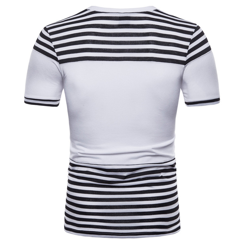 2182f2cea226 Hot sale 2018 New Summer Fashion Men's Cotton Short Sleeve Stripe T Shirt  Casual Male O-Neck Sailor Tops Navy T-Shirt