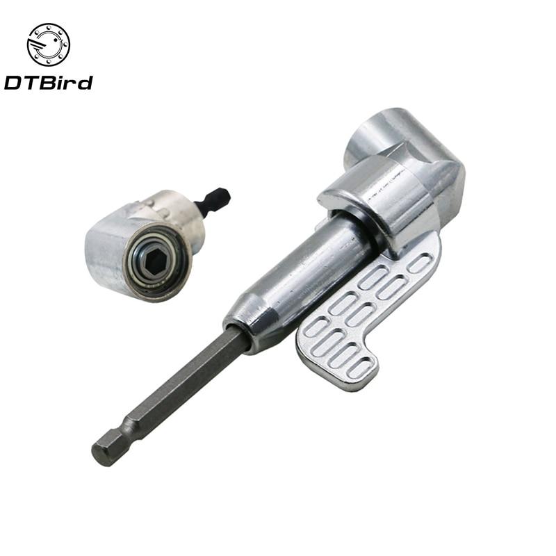 105 grado ángulo extensión tornillo conductor hembra adaptador de soporte ajustable Bits boquillas para destornillador de cabeza con ángulo recto DT6