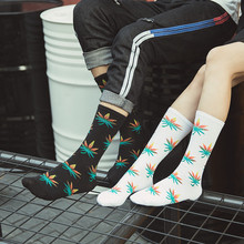 High Quality Cotton Men Socks Fashion Harajuku Street Style Rock And Roll Summer Spring Winter Autumn
