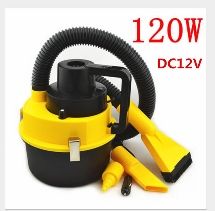 120W Portable Car Vacuum Cleaner Wet And Dry Dual Use Auto Cigarette Lighter Hepa Filter 12V Black 785-001