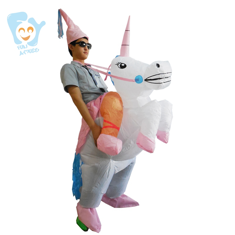 fcd72bb0afe7 Halloween Costumes For Women Men Adults Inflatable Unicorn Costume ...