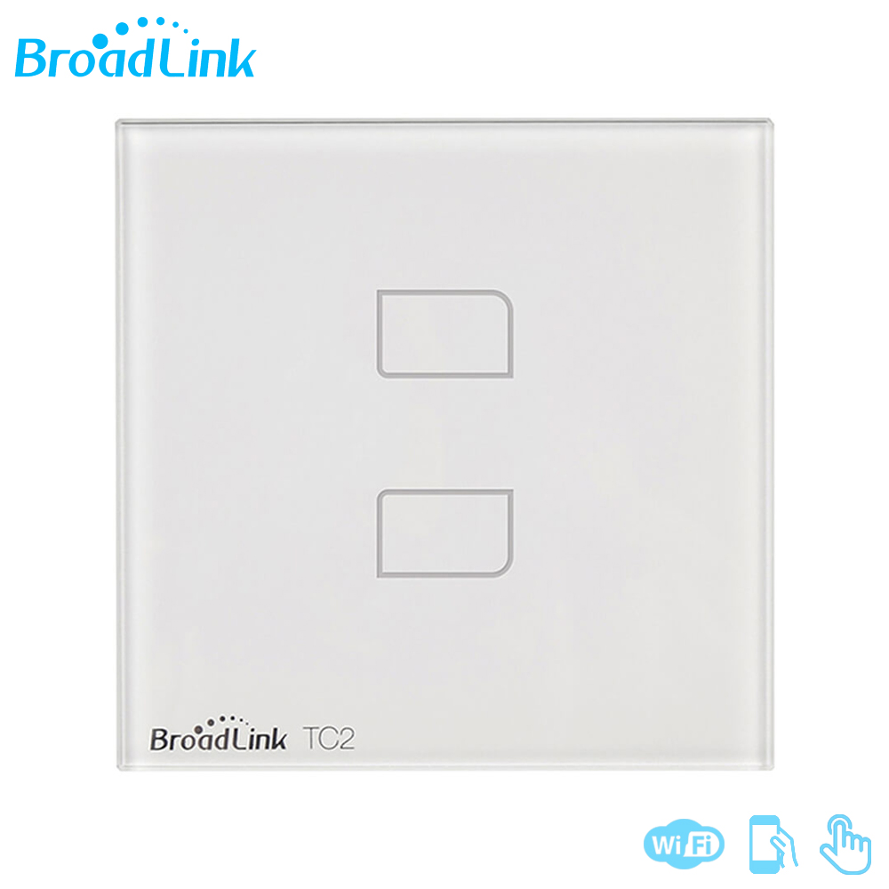 Original Broadlink TC2 2Gang New Smart Wifi Wireless Remote Control Touch EU/ UK Wall Light Switch For Home Automation System