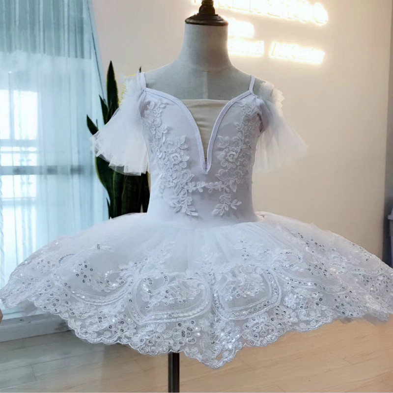 White Professional Tutu Pancake Child Kids Ballerina Costume Contemporary Party Dance Dress Ballet Tutu For Girls Women Adlut