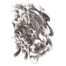 1 шт. форме рыбы водонепроницаемый временные татуировки тела искусства стены рука плечо грудь татуировки наклейки для женщин/мужчин боди-арт
