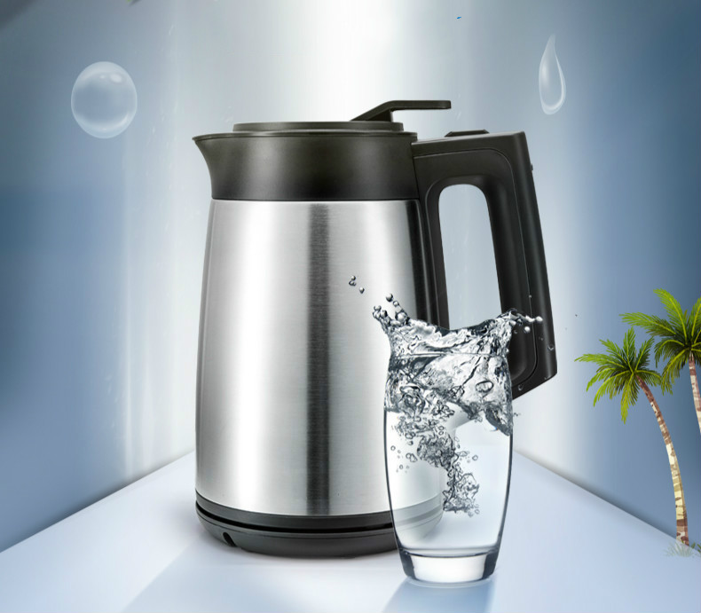Electric kettle/vacuum insulated 304 stainless steel heating boiler three layers  fire prevention 1.7L Safety Auto-Off FunctionElectric kettle/vacuum insulated 304 stainless steel heating boiler three layers  fire prevention 1.7L Safety Auto-Off Function