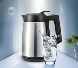 Electric kettle/vacuum insulated 304 stainless steel heating boiler three layers  fire prevention 1.7L Safety Auto-Off Function