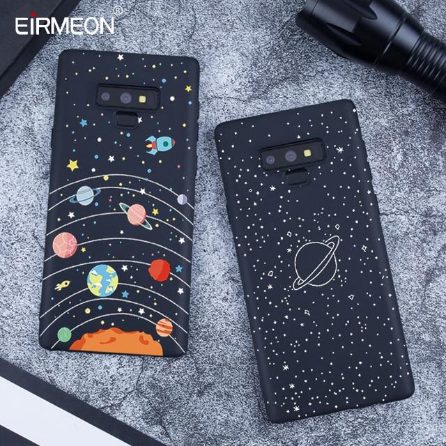 Schwarz Matte Muster Fall Für Samsung Galaxy A6 Plus 2018 Hinweis 9 A8 S9 S8 Plus S7 Rand A5 A3 a7 J7 J5 J3 2017 Kühlen lPhone Abdeckungen