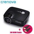 Crenova GP70 Portable Full HD 1080P 1200 Lumens Mini LED Projector Home Theater Private Cinema Support 5.1 Stereo Audio Output