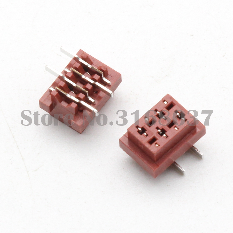 Us 21 58 100pcs 1 27mm 4p Red Idc Female Connector Smt Type Pcb Socket In Connectors From Lights Lighting On Aliexpress 11 Double
