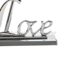 Silver Guest Book Signing Pen with Love Sign Pen Stand Holder