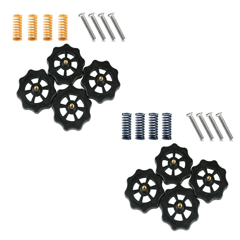 Heat Resistant M4x40 Screw and Nut Leveling Spring Kit For CR-10 Ender3 Um2 <font><b>Prusa</b></font> <font><b>I3</b></font> Mk2/<font><b>Mk3</b></font> Hotbed <font><b>3D</b></font> <font><b>Printer</b></font> Parts Accessories image