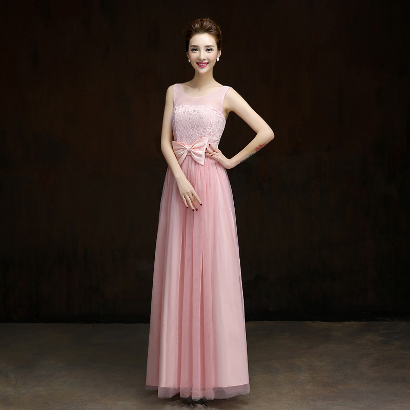 Long Gowns For Wedding Guests: Aliexpress.com : Buy Red Bow Bridesmaid Dresses Long For