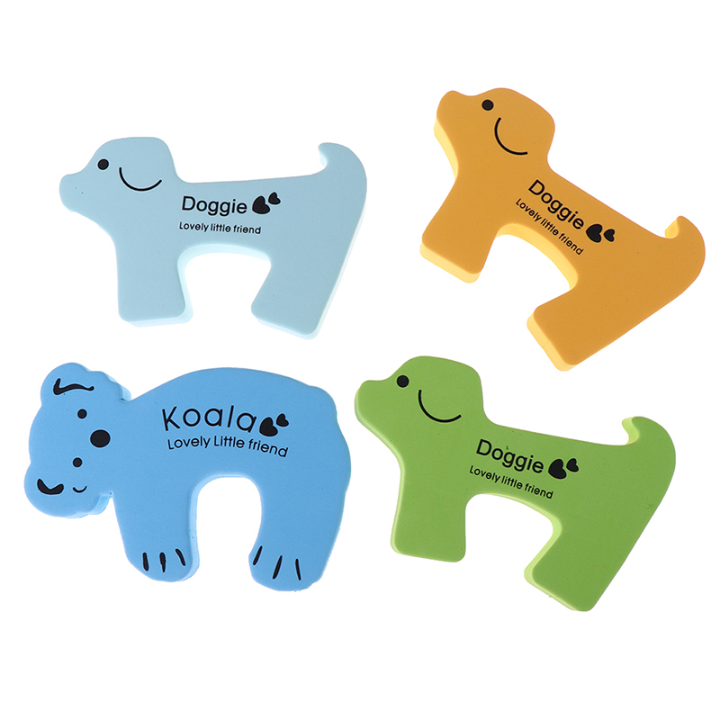 1 Pc/5 Pcs Nette Tier Schutz Baby Sicherheit Sicherheit Tür Stopper Baby Karte Lock Neugeborenen Pflege Kind Finger Protector Vertrieb Von QualitäTssicherung Sicherheitsausrüstung