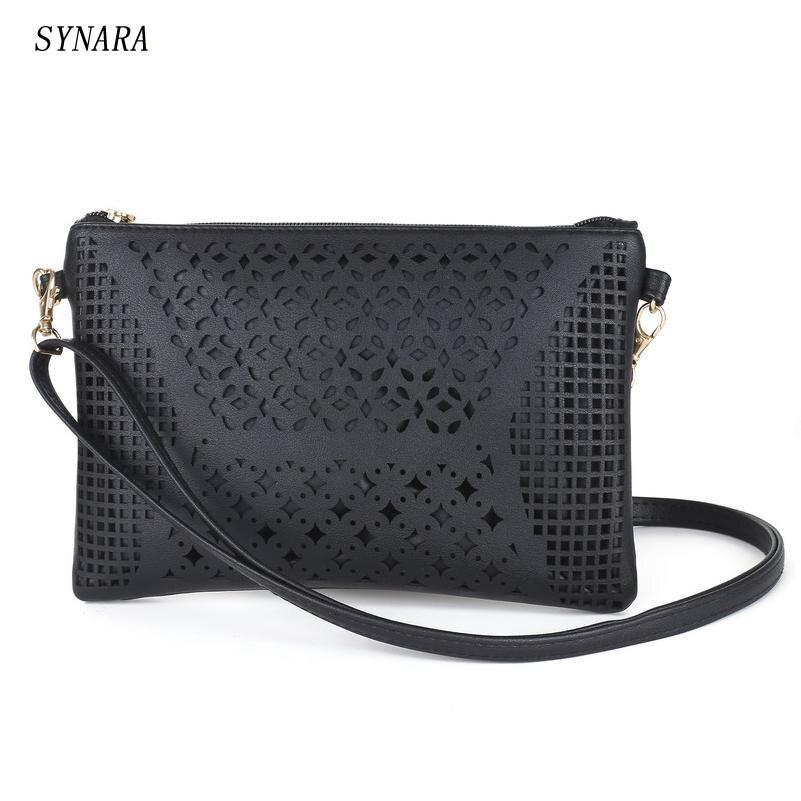2017 Small Casual women messenger bags PU hollow out crossbody bags ladies shoulder purse and handbags bolsas feminina