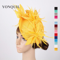 16 Colors Or Yellow Wedding Fascinator Hats Flower Hair Accessories Ladies Kentucky Derby Hat Fascinator Headbands