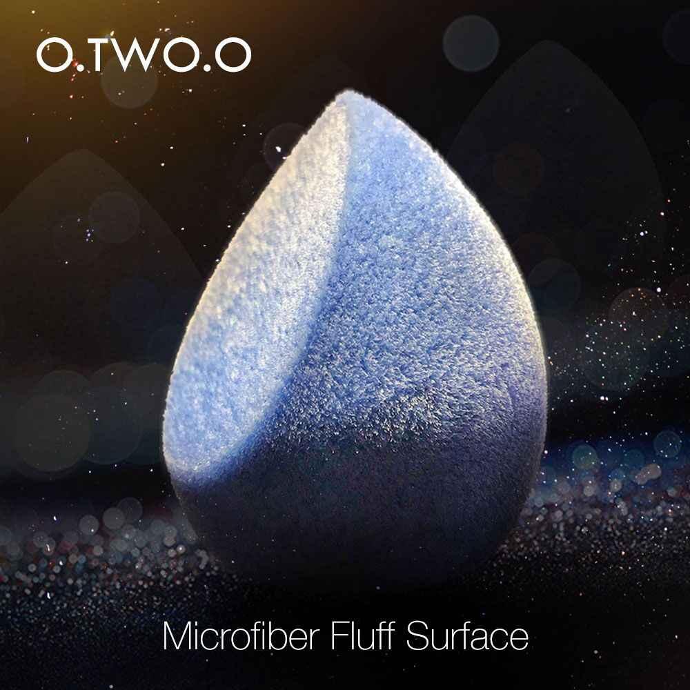 O. DOIS. O Veludo Maquiagem Esponja de Microfibra Fluff Superfície Cosméticos Puff Maquiagem Liquidificador Esponja de Pó Fundação Corretivo Creme