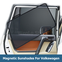 4 Pcs Car Windows Sunshade For Volkswagen GOLF7 2013 2018 UV Protection Blind Mesh Side Door Laser Shade Sun Block Visor