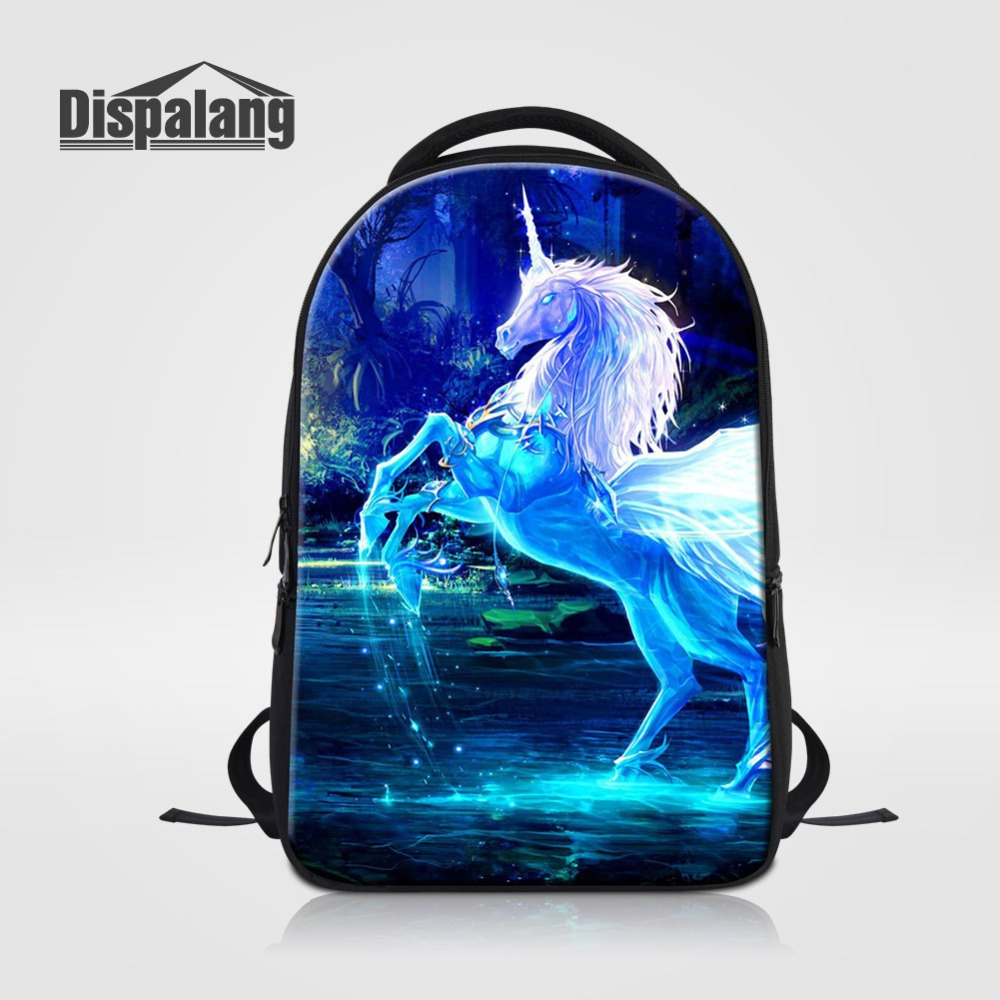 3D Unicorn Animal Prints Laptop Backpack For 14 Inch Notebook Women Men Fashion Travel Rucksack Unisex School Bag Adults Bagpack3D Unicorn Animal Prints Laptop Backpack For 14 Inch Notebook Women Men Fashion Travel Rucksack Unisex School Bag Adults Bagpack