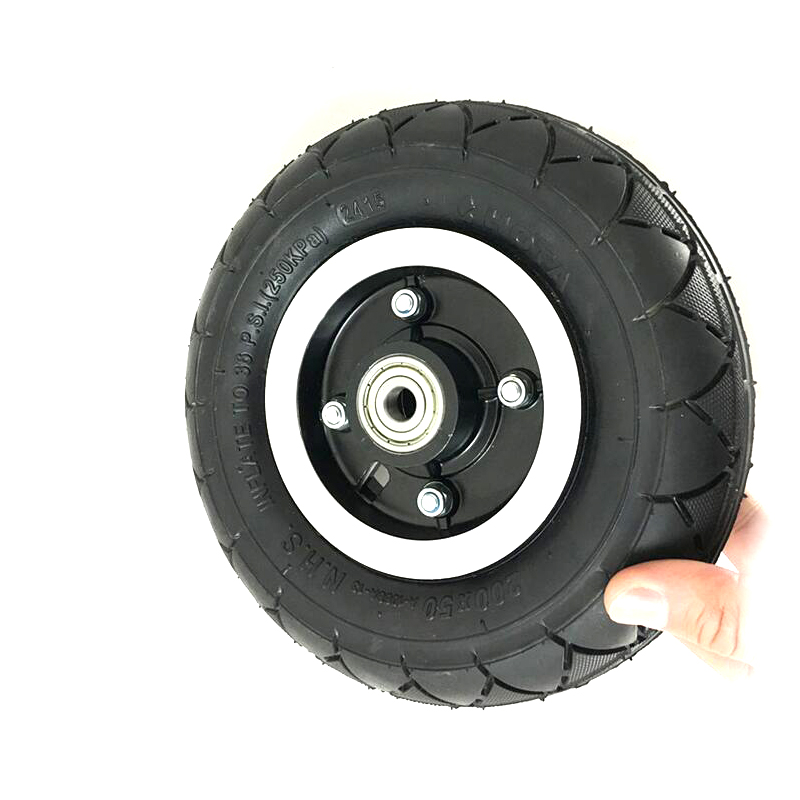 8 pouces scooter électrique roues pneu pneumatique ou pneu solide 200x50mm moyeu en alliage d'aluminium