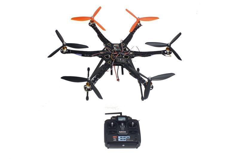 FAI DA TE Drone Quadcopter Aggiornata Kit Completo HMF S550 9045 3-Propeller 6-axle 6ch RC Hexaopter RTF/ARF Senza Pastella/caricatore F08618-EFAI DA TE Drone Quadcopter Aggiornata Kit Completo HMF S550 9045 3-Propeller 6-axle 6ch RC Hexaopter RTF/ARF Senza Pastella/caricatore F08618-E