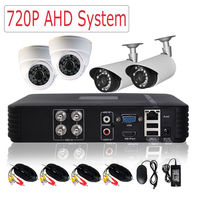 CCTV 4CH DVR AHD Security Camera System 720P 1200TVL Camera Home Surveillamcekit