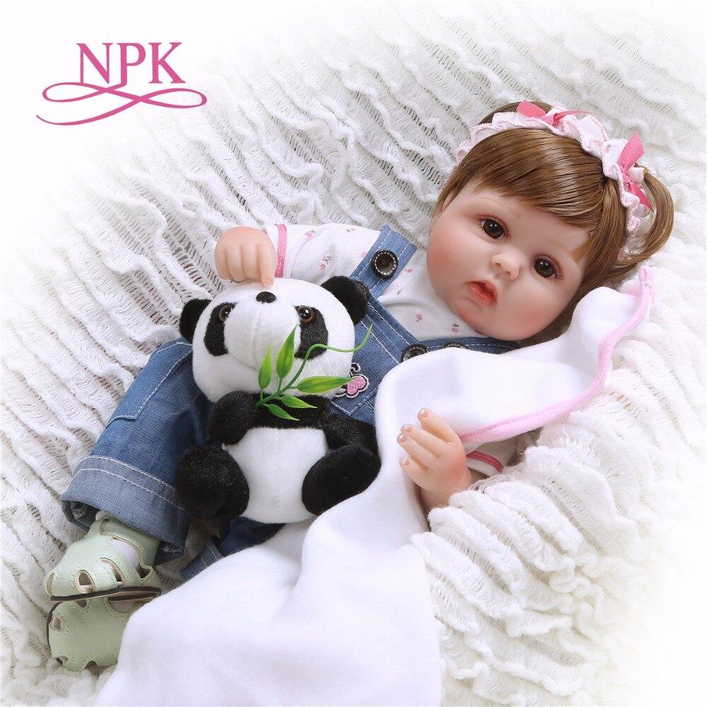 Кукла новорожденная, 43 см, из мягкого силикона