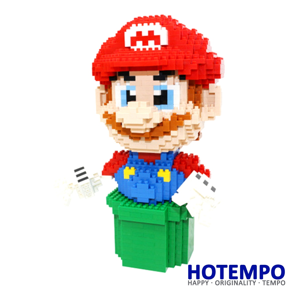 Big size Yoshi Mini Blocks Mini Building Super Hero Mario with chimney DIY Model Building Blocks Toys for Children 7005 1500 2200 pcs big size plastic cute cartoon designs of mini nano blocks diamond mini block toys for children diy game